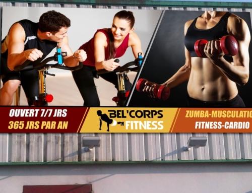 Enseigne et Signalétique de la Salle de Sport Bel Corps Fitness