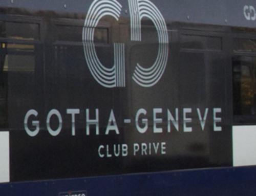 Adhésivage du tramway de Genève et décoration du club – Le Gotha