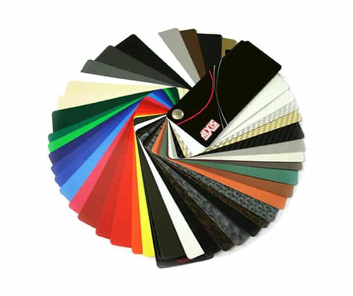 Une large gamme d'adhésifs haute tenue avec des nuanciers très variés