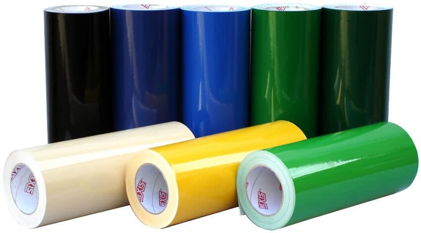 Une large gamme de couleurs d'adhésif