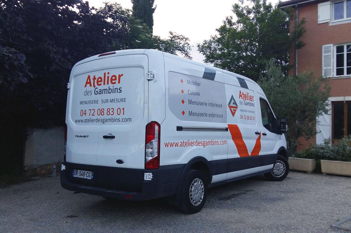 Covering d'un camion - publicité adhésive
