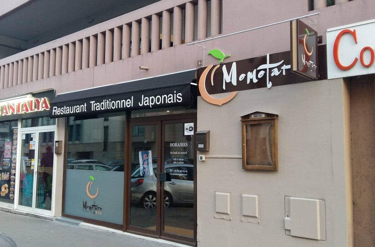Enseigne d'un restaurant japonais à Lyon