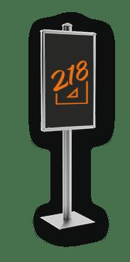Porte affiche pour signalétique extérieure