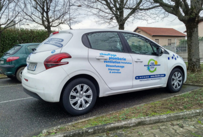 Covering véhicule pour la société 2B Clim à Lyon