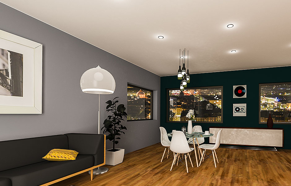 Aménagement et décoration d'intérieur pour salon à Lyon