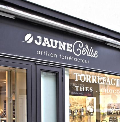 Enseigne panneau boutique de Thé à Lyon