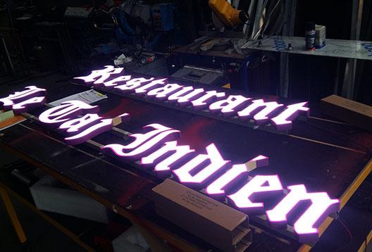 Lettres Bloc LED éclairées