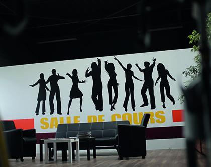 Décoration murale pour votre signalétique intérieure à Lyon