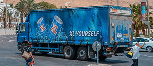 Marquage et personnalisation de camions