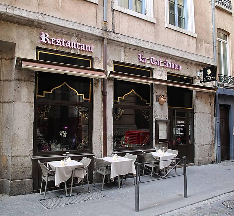Enseigne commerciale d'un Restaurant Indien sur Lyon